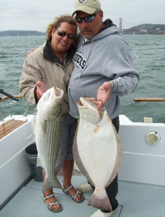 San francisco bay fishing guide sf bay fishing charter fleet for Sf bay halibut fishing